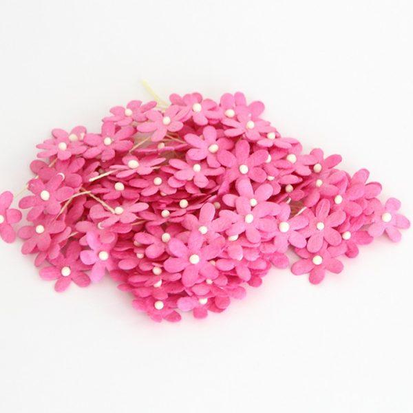 Цветочки маленькие 2 см - Фуксия
