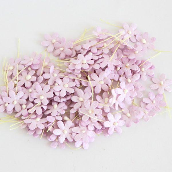 Цветочки маленькие 2 см - светло-сиреневые, 10 шт