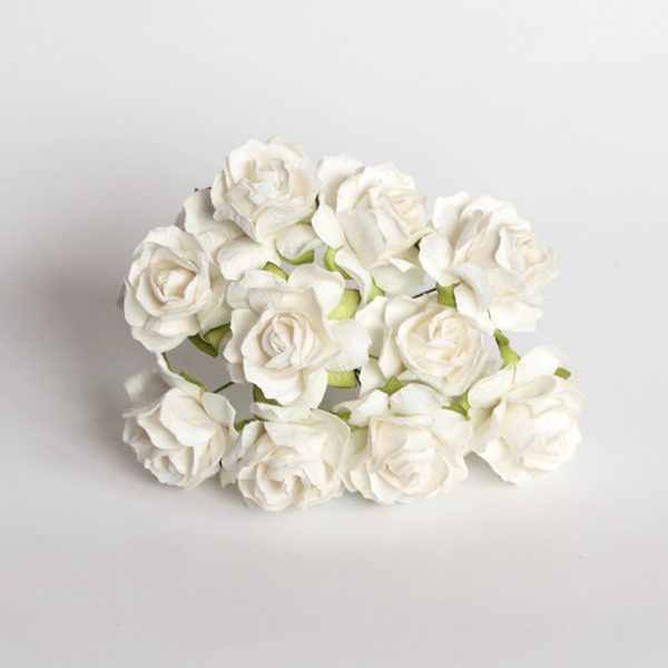 Кудрявые розы 3 см - Белые