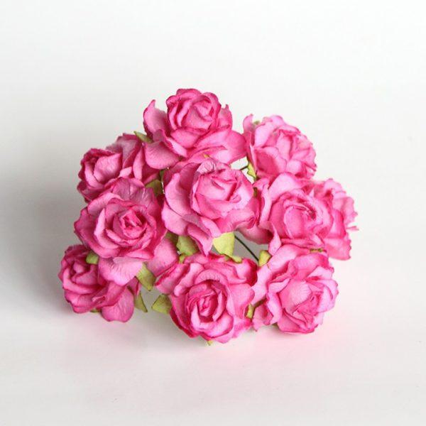Кудрявые розы 3 см - Розовые