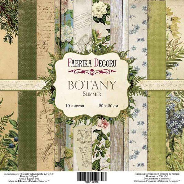 Набор скрапбумаги Botany summer, 20 Х 20 см, Фабрика Декору