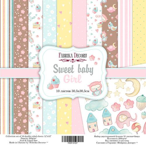 Набор скрапбумаги Sweet baby girl, 30,5 Х 30,5 см, Фабрика Декору