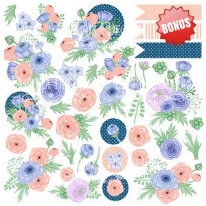 Лист скрапбумаги Цветочное настроение,Фабрика Декору 10