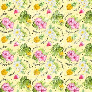 Лист скрапбумаги Tropical paradise, 20 Х 20 см, Фабрика Декору 2