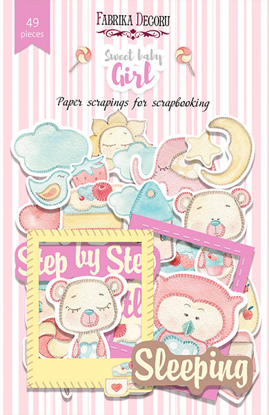 Набор высечек, коллекция Sweet baby girl, 49шт