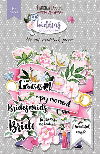 Набор высечек, коллекция Wedding of our dream, 65шт
